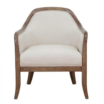 Farmhouse Style Beige Accent Chair   Beige   Pulaski : Target
