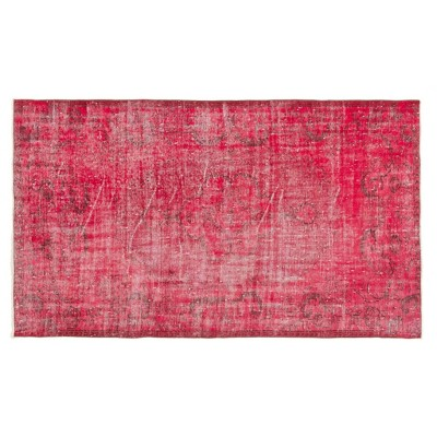 """4'8""""x8'4"""" Vintage One-of-a-Kind Torquil Rug Red - Revival Rugs"""