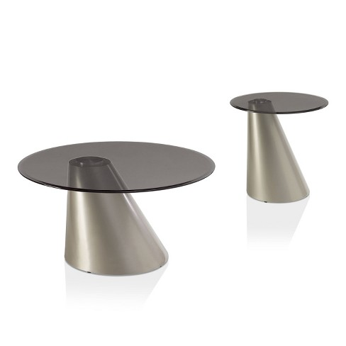 2pc Ripon Coffee And End Table Set, Round Table Ripon
