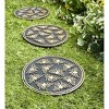 Recycled Rubber Garden Pathway Round Stepping Stones, Set of 3 - Plow & Hearth - image 2 of 2