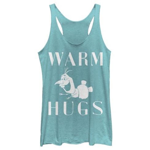 Women's Frozen 2 Olaf Warm Hugs Racerback Tank Top - image 1 of 1