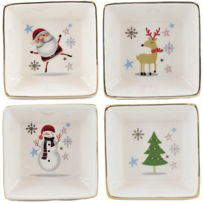 """Tabletop 1.25"""" Square Dish Christmas Container One Hundred 80 Degree  -  Serving Bowls"""