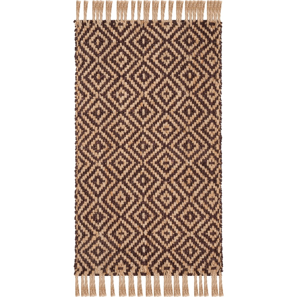 4'X6' Solid Woven Area Rug Brown/Natural - Safavieh