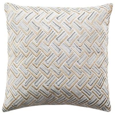 "Metallic Pillow - Grey/Gold - 20"" x 20"" - Safavieh"