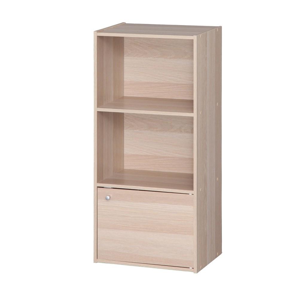 Image of IRIS 3 Tier Shelf With Door - Natural