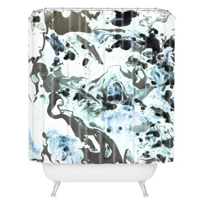Abstract Shapes Shower Curtain Blue - Deny Designs
