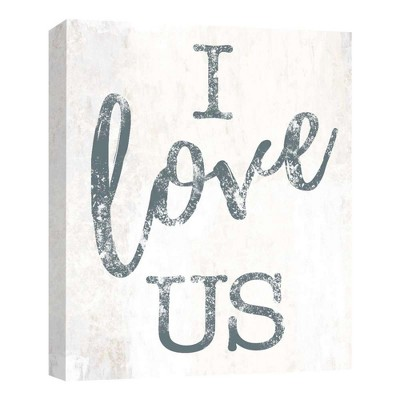 I Love Us Decorative Canvas Wall Art 11 x14  - PTM Images