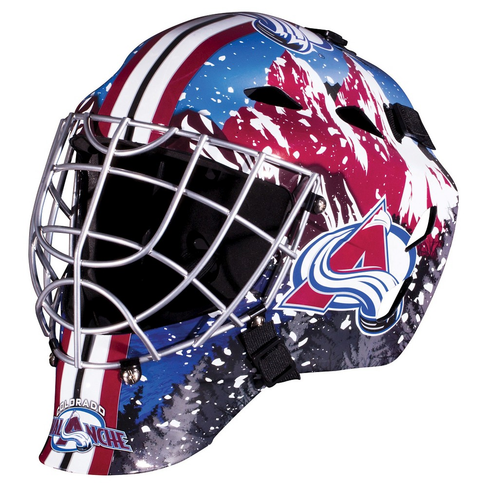 Franklin Sports NHL Team Licensed Gfm 1500 Goalie Face Mask - Colorado Avalanche
