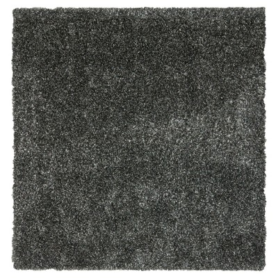Charcoal Solid Tufted Square Area Rug - (7'X7')- Safavieh®