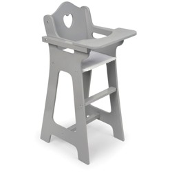 Badger Basket Doll High Chair - Executive Gray