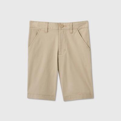 Boys' Flat Front Stretch Uniform Shorts - Cat & Jack™ Khaki
