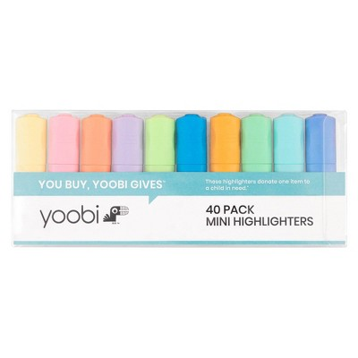 40ct Highlighter Set Fine Point Assorted Colors - Yoobi™