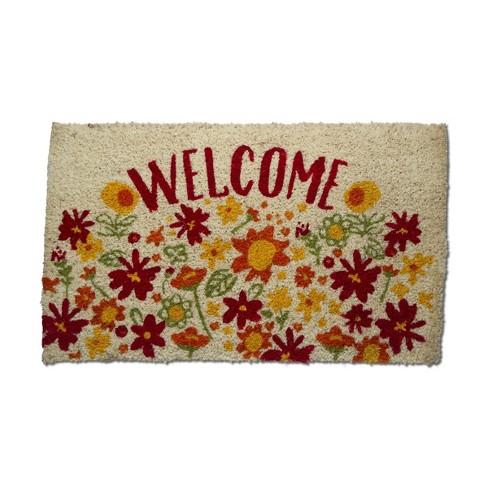 """TAG 1'6"""" x 2'6"""" Welcome Sunshine Coir Doormat Indoor Outdoor Welcome Mat - image 1 of 3"""
