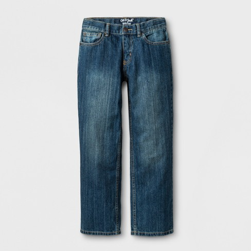 Boys' Relaxed Medium Wash Straight Jeans - Cat & Jack™ Blue - image 1 of 3