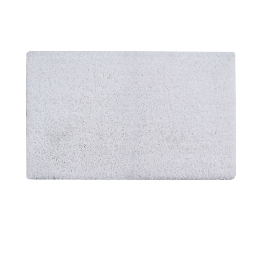 "Image of ""21""""x34"""" Micro Plush Bath Rug White - Better Trends"""