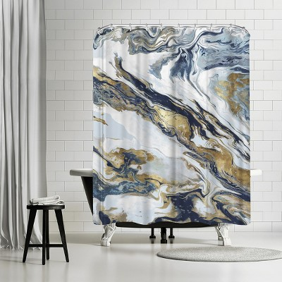 """Americanflat Space Giant by Pi Creative Art 71"""" x 74"""" Shower Curtain"""