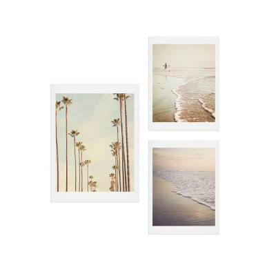 16 x20  Los Angeles Palms Gallery Decorative Wall Art Set Buff Beige - Deny Designs
