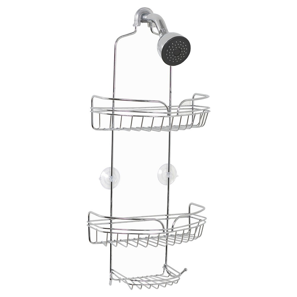 Zenna Home Over the Shower Head Rust-Resistant Caddy - Chrome (Grey)