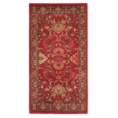 Red/Navy Floral Loomed Accent Rug 2'2 X4' - Safavieh