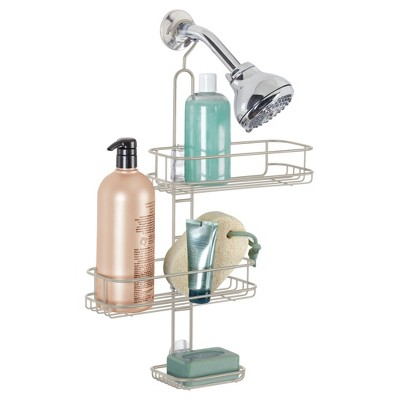 Adjustable Bathroom Shower Caddy Satin Silver - InterDesign