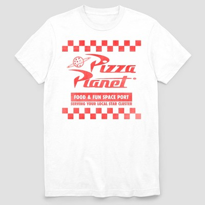 Men's Toy Story Pizza Planet Short Sleeve Graphic T-Shirt - White L
