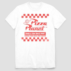Men's Toy Story Pizza Planet Short Sleeve Graphic T-Shirt - White