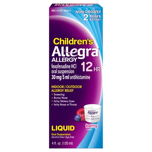 21952e454c16 Children s Allegra 12 Hour Allergy Relief Liquid - Berry Flavor ...