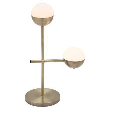 Bold 27 White Bronze 2 Arm Table Lamp Includes Light Bulb Zm