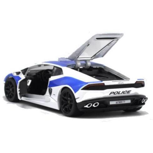 Lamborghini Huracan Lp610 4 Police White And Blue 1 24 Diecast Model