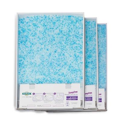PetSafe ScoopFree Disposable Crystal Litter Tray Premium - Blue - 3pk