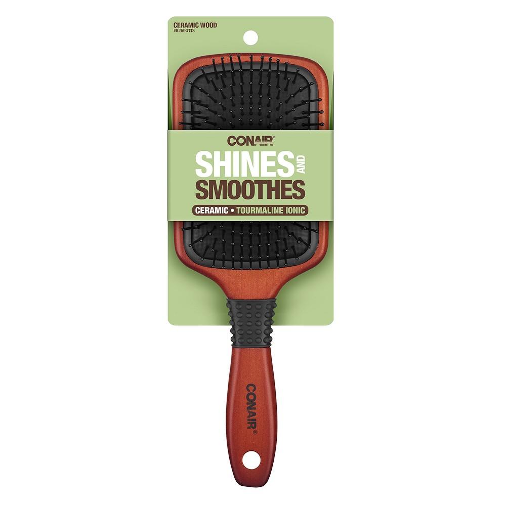 Conair Ceramic Paddle Brush, Brown