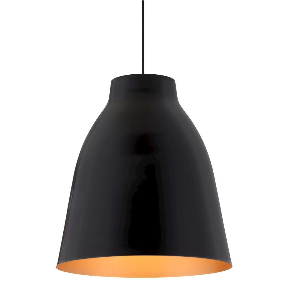 Industrial Bronze 17 Curved Ceiling Lamp - ZM Home, Matte Black