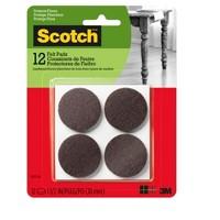 Scotch 1.5-inch 12pc Round Felt Pads