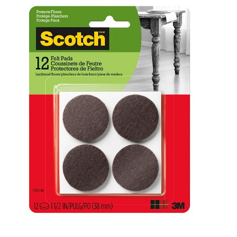 "Scotch 1.5"" 12pc Round Felt Pads Brown - image 1 of 3"