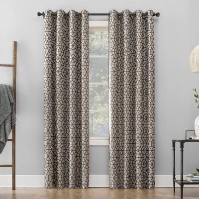 Burke Twill Mosaic Extreme 100% Blackout Grommet Top Curtain Panel - Sun Zero