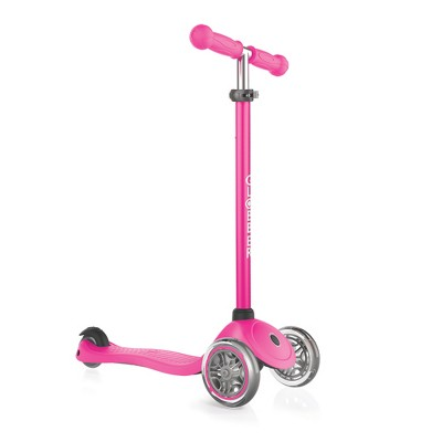 Globber Primo Pink 3-Wheel Kids Kick Scooter with Adjustable Height and Comfortable Grips for Boys and Girls