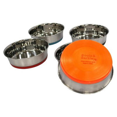 Stainless Steel Dog Bowl- Colors May Vary - Boots & Barkley™