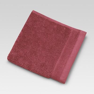 Ultra Soft Washcloth - Wave Dark Red - Threshold™