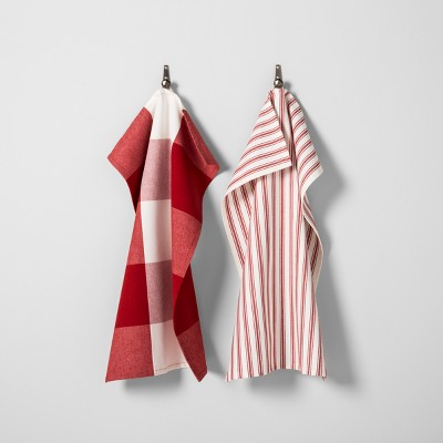 Gingham Kitchen Towel Set of 2 - Red/White - Hearth & Hand™ with Magnolia