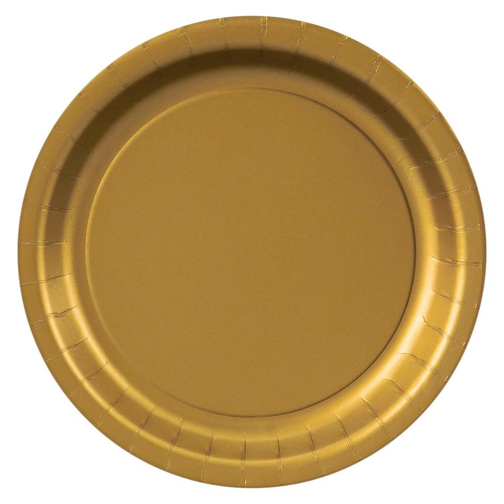 48ct Dessert Plate Gold