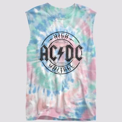Men's AC/DC Tie-Dye Tank Top