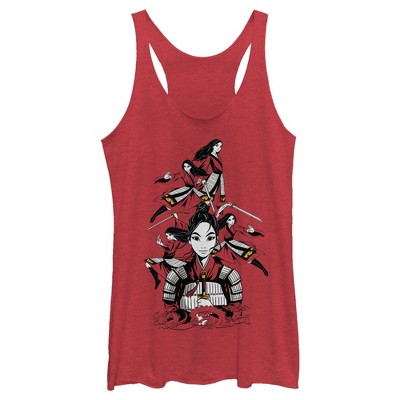 Women's Mulan Ready for Battle Racerback Tank Top