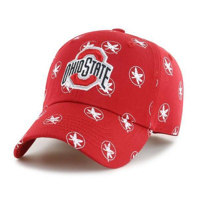 NCAA Ohio State Buckeyes Women's Fabric Washed Relaxed Fit Hat