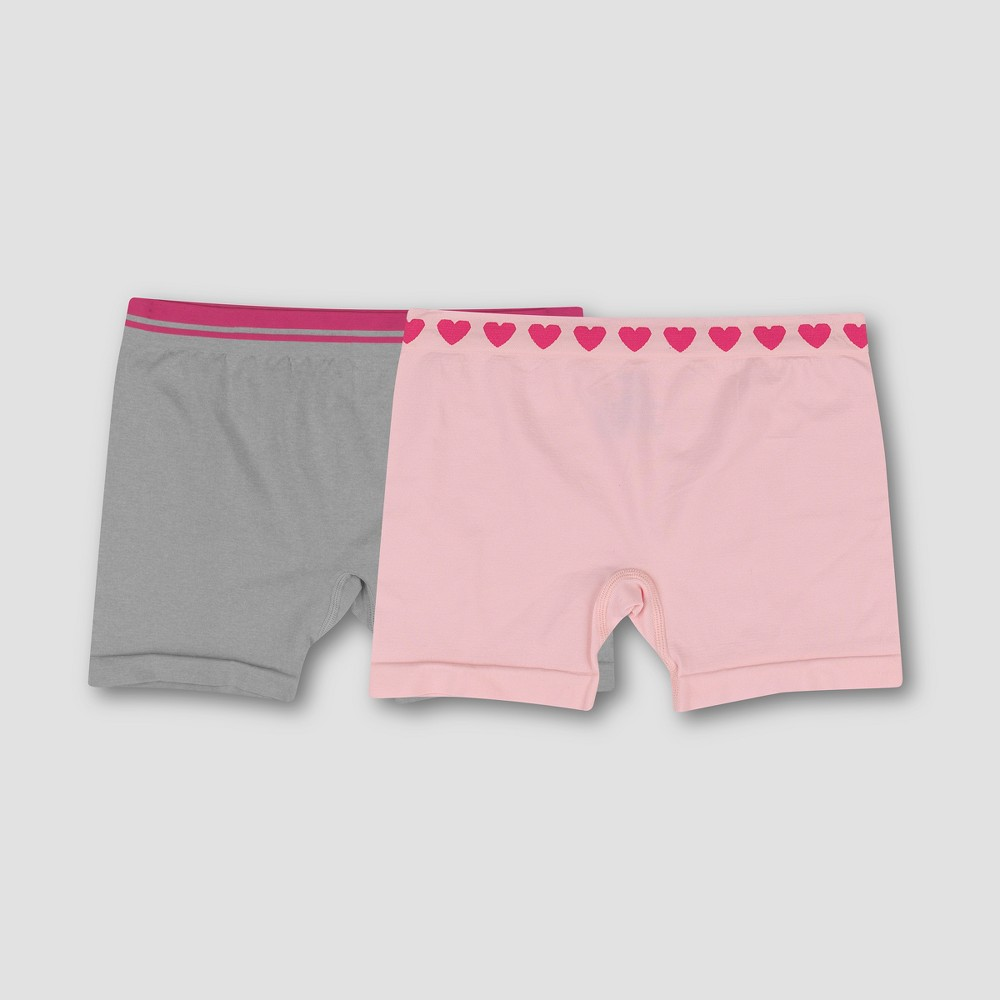 Hanes Premium Girls' 2pk Seamless Play Shorts - Colors Vary XL, Multicolored