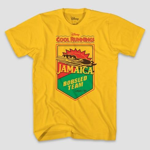 Men's Disney Jamaica Cool Runnings Short Sleeve Graphic T-Shirt - Gold - image 1 of 1