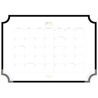 2021-22 Academic Desk Pad Monthly Black - Sugar Paper™