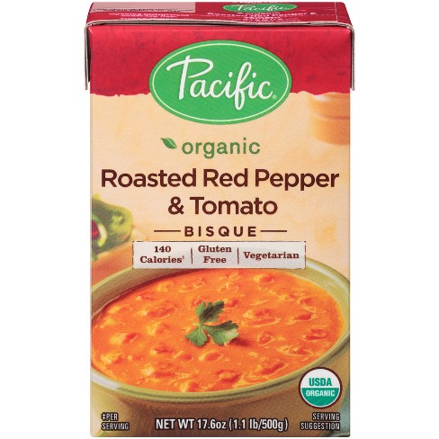 Pacific Foods Organic Roasted Red Pepper & Tomato Bisque - 17.6oz - image 1 of 6