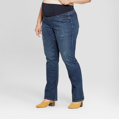 3f67f68f14e86 Shop all Isabel Maternity by Ingrid & Isabel. Play Isabel Maternity by  Ingrid & Isabel™ Maternity Plus Size Dark Wash Bootcut Jeans -