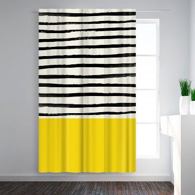 Americanflat Sunshine 2 by Leah Flores  Blackout Rod Pocket Single Curtain Panel 50x84