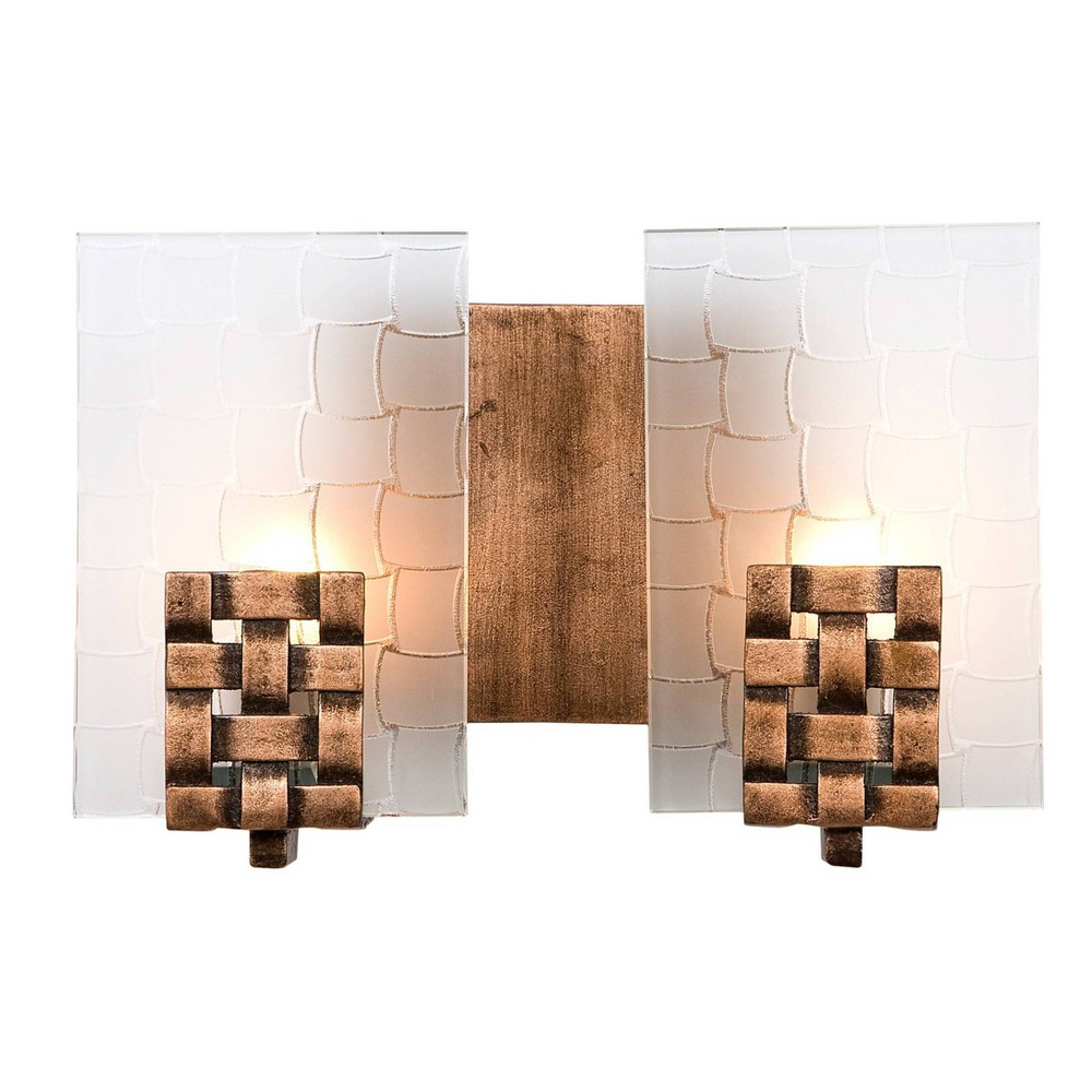 Dreamweaver 2 Light Bath Fixture - Blackened Copper (Brown)